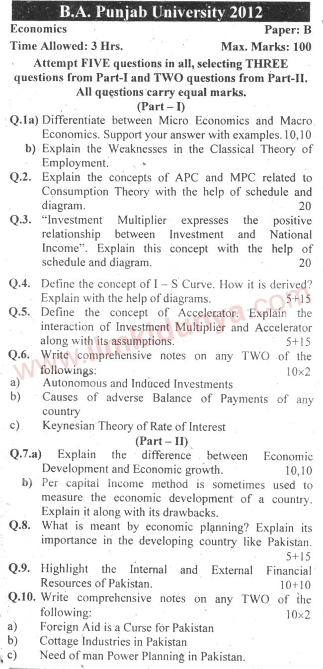 Papers on economics