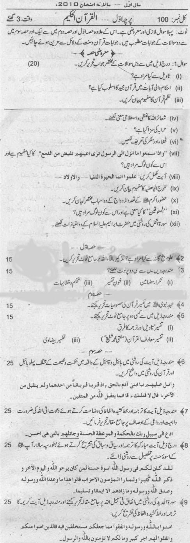 Ma Past Papers Punjab University